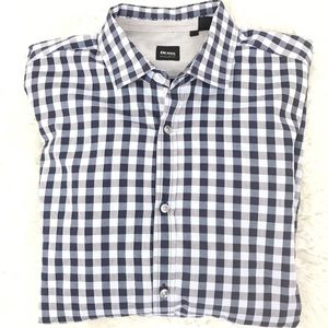 Boss Hugo Boss regular fit plaid shirt size m